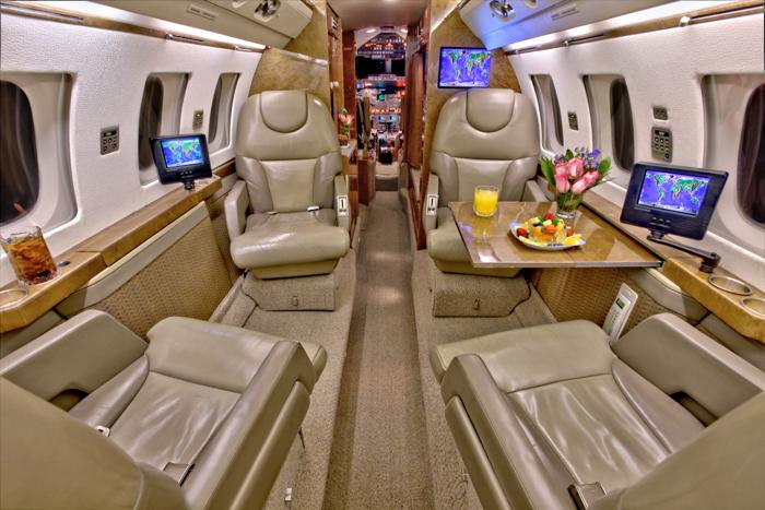 Hawker 800A Interior