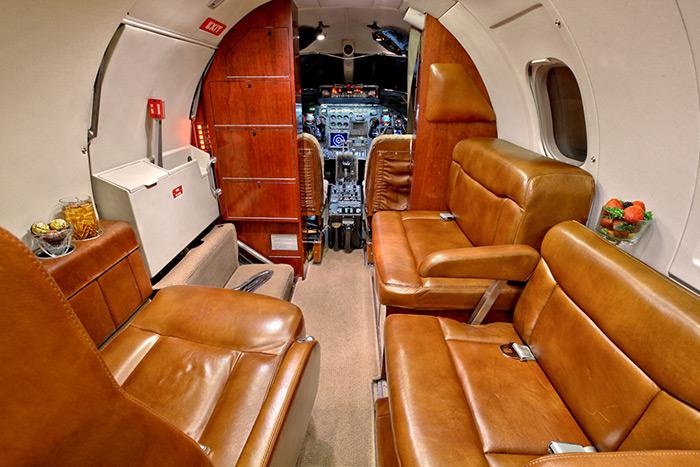 Lear 35A Cabin