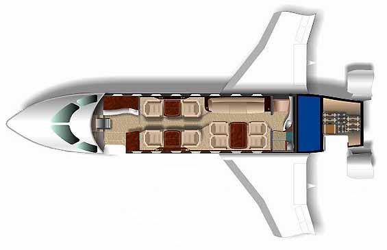 Gulfstream G200 Interior Layout