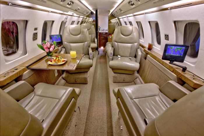 Hawker 800A Cabin Interior