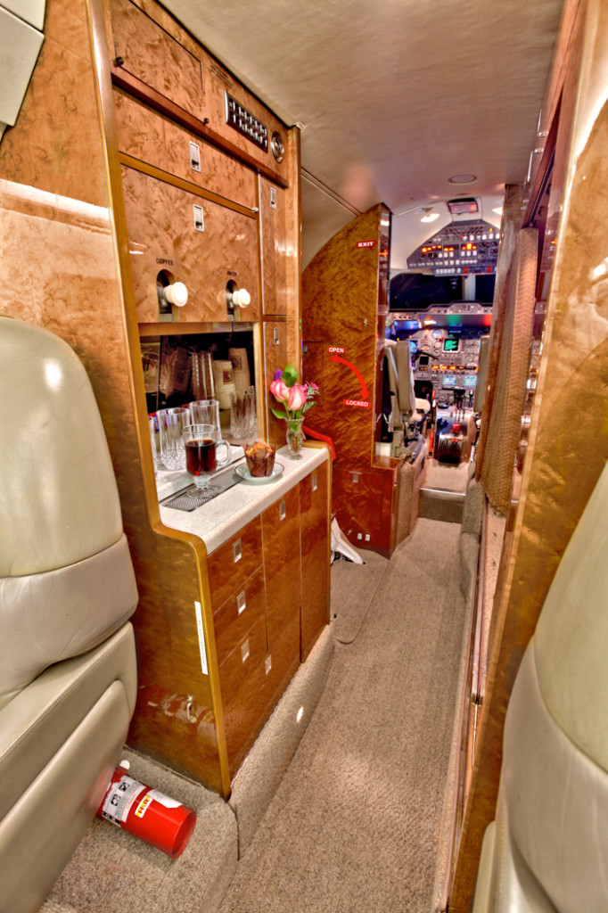 Hawker 800A Galley
