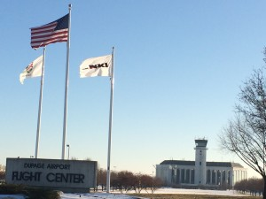 Flags at the DuPage Airport