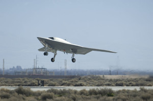 picture of first flight X-47B