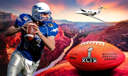 image private jet to superbowl XLIX